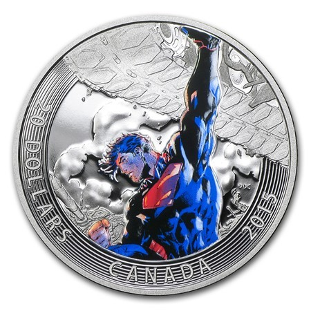1 Oz Silver Iconic Superman Comic Book Covers Superman