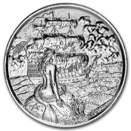 2 Oz Silver Siren Ultra High Relief Round
