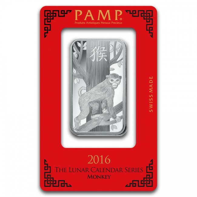1 Oz Silver Pamp Suisse Monkey Bar
