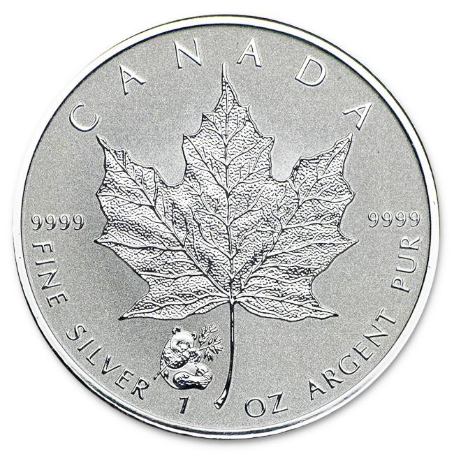 1 Oz Silver Canadian Maple Leaf Panda Privy Coin 2016