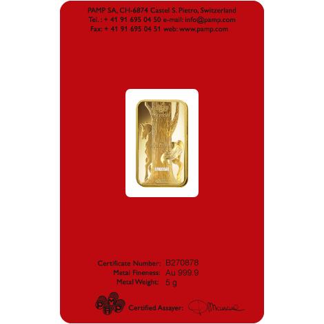 5 Gram Gold Pamp Suisse Horse Bar Online Canada