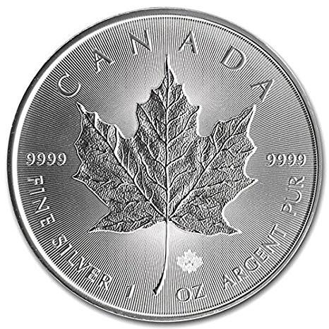 5 Coins 2019 Silver 1 oz Canada Maple Leaf