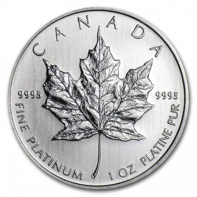 1 Oz Platinum Rcm Canadian Maple Leaf Coin Pre Year