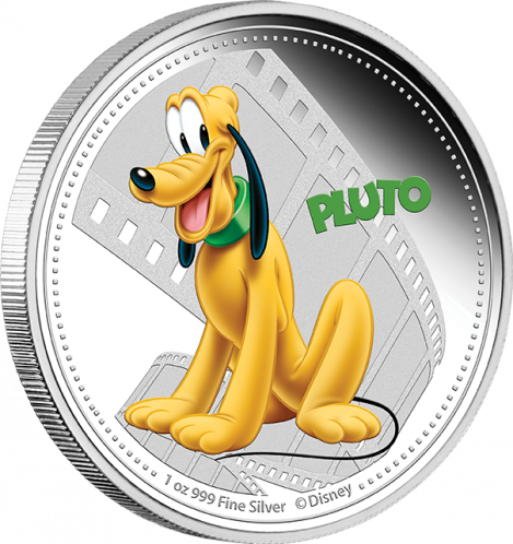 1 Oz Silver New Zealand Mint Disney Pluto Coin