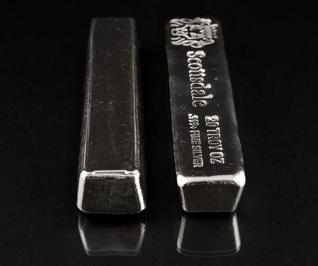 20 Oz Silver Scottsdale Cast Bar