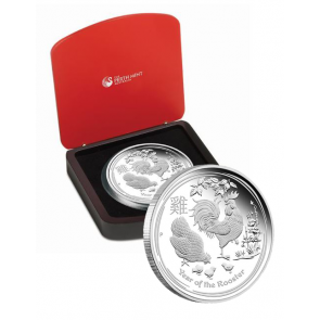 1/2 oz Silver Year of the Rooster Proof Coin 2017