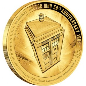 1 oz Gold Dr Who 50th Anniversary Coin 2013