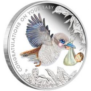 1/2 oz Silver Newborn Baby Proof Coin 2016