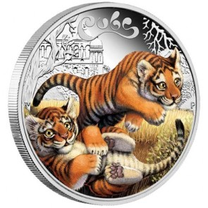 1/2 oz Silver The Cubs - Tiger Cubs Proof Coin 2016