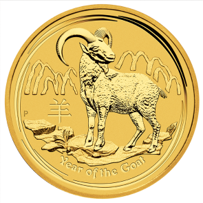1/2 oz Gold Perth Mint Year of the Goat Coin 2015