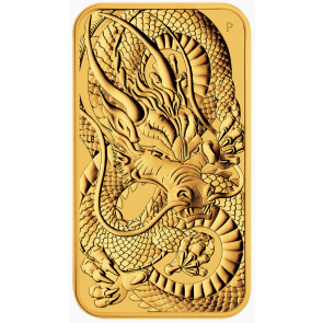 1 oz Gold Perth Mint Australian Dragon Rectangular Coin 2021