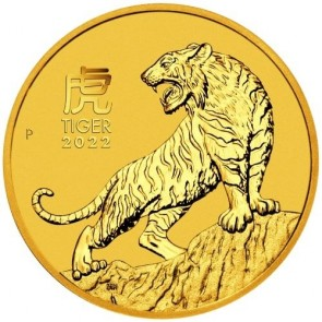 1/10 oz Gold Perth Mint Year of the Tiger Coin 2022