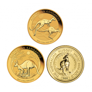 1/10 oz Gold Perth Mint Kangaroo Coin
