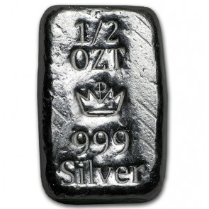 1/2 oz Silver Monarch Precious Metals Bar