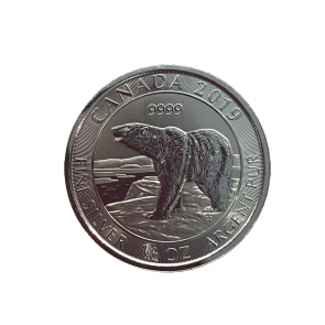 1/2 oz Silver Canada Polar Bear Coin 2019