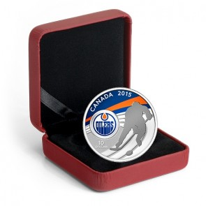 1/2 oz Silver NHL Edmonton Oilers Hockey Coin 2015