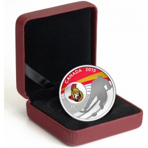 1/2 oz Silver NHL Ottawa Senators Hockey Coin 2015