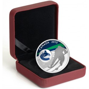 1/2 oz Silver NHL Vancouver Canucks Hockey Coin 2015