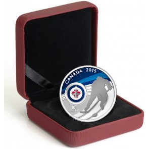 1/2 oz Silver NHL Winnipeg Jets Hockey Coin 2015