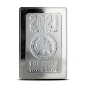 1 kilo Silver Lunar Ox Stacker Bars