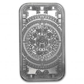 1 oz Silver Aztec Calendar Bar