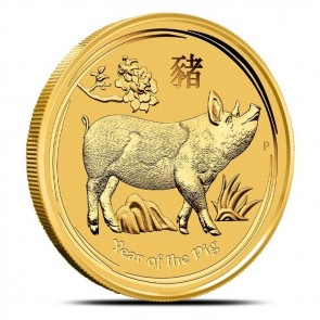 1 oz Gold Perth Mint Year of the Pig Coin 2019