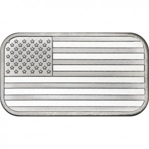 1 oz American Flag Silver Bullion Bars