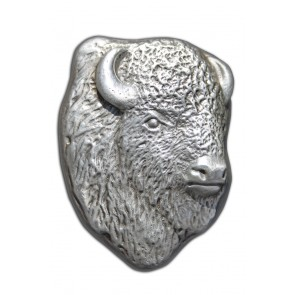 10 oz Silver Bison Bullion Buffalo Head Bar