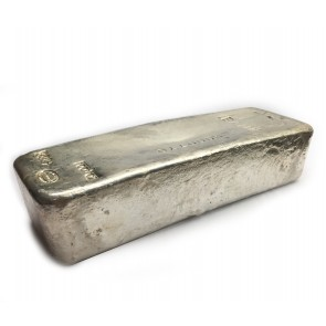 100 oz Silver Johnson Matthey Hand Poured Bar