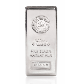 100 oz Silver Royal Canadian Mint bar