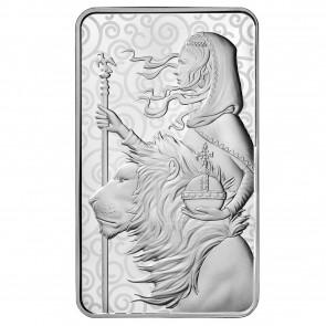 100 oz Silver Una and the Lion bar