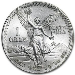 1 oz silver Mexican Libertad Coin 1983