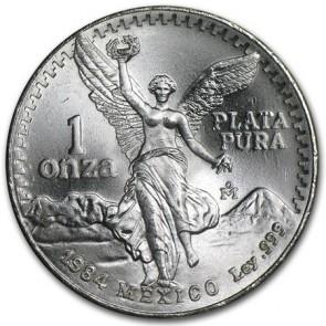 1 oz silver Mexican Libertad Coin 1984