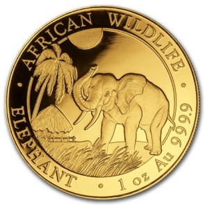 1 oz Gold Somalian Elephant Coin 2017
