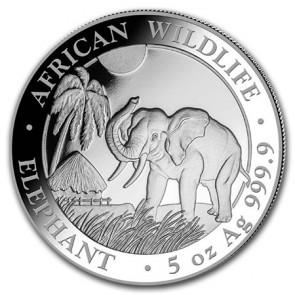5 oz Silver Somalian Elephant Coin 2017