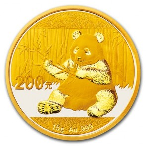 15 gram Gold Chinese Panda Coin 2017