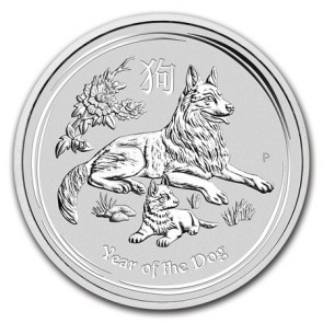 1/2 oz Silver Perth Mint Year of the Dog Coin 2018