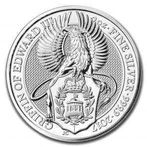 2 oz Silver Queen's Beast - The Griffin Coin 2017 (with toning)