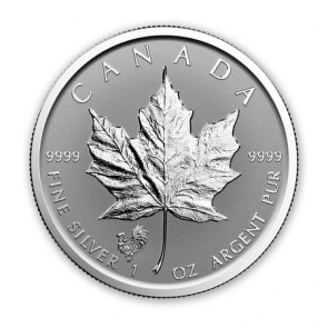 1 oz Silver Canadian Maple Leaf Rooster Privy Coin 2017