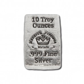 10 oz Silver Monarch Precious Metals Bar