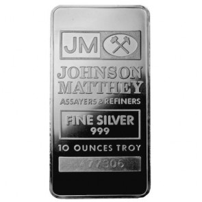 10 oz Silver Johnson Matthey Bar