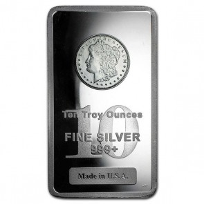 10 oz Morgan Silver Bars