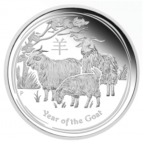 1/2 oz Silver Perth Mint Year of the Goat Coin 2015