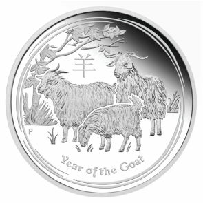 5 oz Silver Perth Mint Year of the Goat Coin 2015