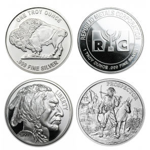 1 oz Various Silver Rounds