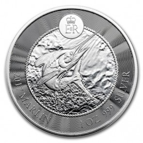 1 oz Silver Cayman Islands Marlin Coin 2017