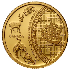 1/10 oz Gold 5 Blessings Coin 2014