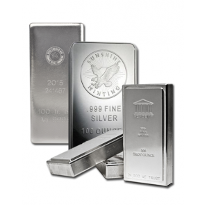 Various 100 oz Silver bars