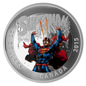 1 oz Silver Iconic Superman™ Comic Book Covers: Superman #28 Coloured Coin 2014