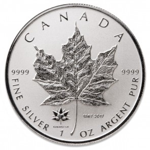 1 oz Silver Canadian Maple Leaf 150th Anniversary Privy Coin 2017